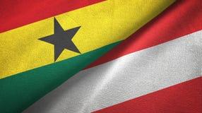 Ткань ткани флагов Ганы и Австрии 2, текстура ткани бесплатная иллюстрация
