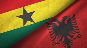 Ткань ткани флагов Ганы и Албании 2, текстура ткани иллюстрация вектора