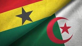 Ткань ткани флагов Ганы и Алжира 2, текстура ткани иллюстрация штока