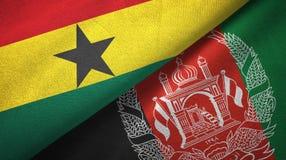 Ткань ткани флагов Ганы и Афганистана 2, текстура ткани бесплатная иллюстрация