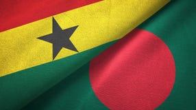 Ткань ткани флагов Ганы и Бангладеша 2, текстура ткани иллюстрация вектора