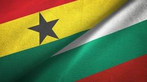 Ткань ткани флагов Ганы и Болгарии 2, текстура ткани иллюстрация штока