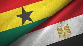 Ткань ткани флагов Ганы и Египта 2 бесплатная иллюстрация