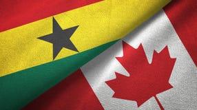 Ткань ткани флагов Ганы и Канады 2, текстура ткани бесплатная иллюстрация