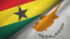 Ткань ткани флагов Ганы и Кипра 2, текстура ткани иллюстрация вектора