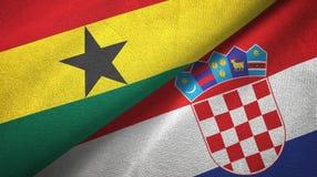 Ткань ткани флагов Ганы и Хорватии 2, текстура ткани бесплатная иллюстрация