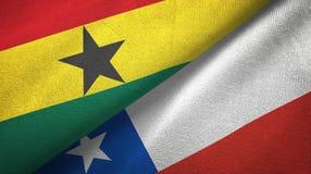 Ткань ткани флагов Ганы и Чили 2, текстура ткани бесплатная иллюстрация