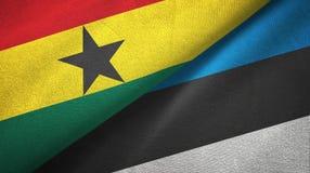 Ткань ткани флагов Ганы и Эстонии 2, текстура ткани иллюстрация вектора