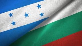 Ткань ткани флагов Гондураса и Болгарии 2, текстура ткани иллюстрация вектора