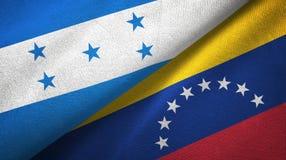 Ткань ткани флагов Гондураса и Венесуэлы 2, текстура ткани иллюстрация вектора