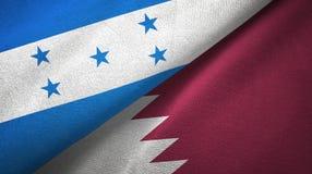 Ткань ткани флагов Гондураса и Катара 2, текстура ткани иллюстрация штока
