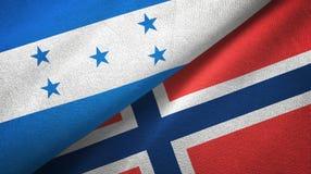 Ткань ткани флагов Гондураса и Норвегии 2, текстура ткани бесплатная иллюстрация