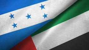 Ткань ткани флагов Гондураса и Объениненных Арабских Эмиратов 2, текстура ткани бесплатная иллюстрация
