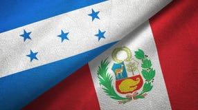 Ткань ткани флагов Гондураса и Перу 2, текстура ткани иллюстрация вектора