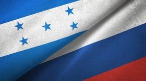 Ткань ткани флагов Гондураса и России 2, текстура ткани бесплатная иллюстрация
