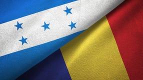 Ткань ткани флагов Гондураса и Румынии 2, текстура ткани бесплатная иллюстрация