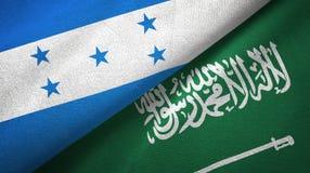 Ткань ткани флагов Гондураса и Саудовской Аравии иллюстрация вектора