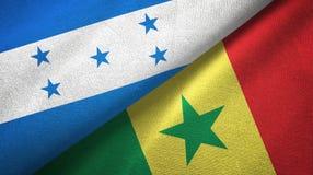 Ткань ткани флагов Гондураса и Сенегала 2, текстура ткани бесплатная иллюстрация
