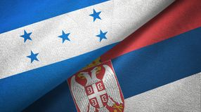 Ткань ткани флагов Гондураса и Сербии 2, текстура ткани иллюстрация штока
