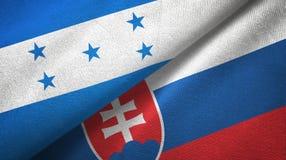 Ткань ткани флагов Гондураса и Словакии 2, текстура ткани иллюстрация штока