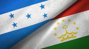 Ткань ткани флагов Гондураса и Таджикистана 2, текстура ткани бесплатная иллюстрация