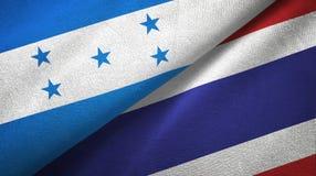 Ткань ткани флагов Гондураса и Таиланда 2, текстура ткани иллюстрация вектора