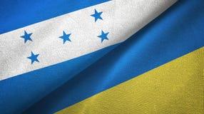 Ткань ткани флагов Гондураса и Украины 2, текстура ткани иллюстрация вектора