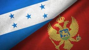 Ткань ткани флагов Гондураса и Черногории 2, текстура ткани иллюстрация вектора