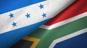 Ткань ткани флагов Гондураса и Южной Африки 2, текстура ткани иллюстрация штока