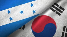 Ткань ткани флагов Гондураса и Южной Кореи 2, текстура ткани бесплатная иллюстрация