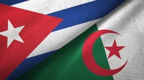 Ткань ткани флагов Кубы и Алжира 2, текстура ткани бесплатная иллюстрация