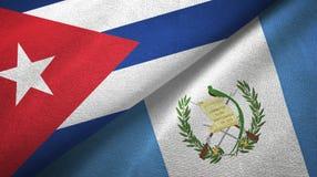 Ткань ткани флагов Кубы и Гватемалы 2, текстура ткани иллюстрация вектора