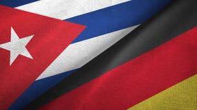 Ткань ткани флагов Кубы и Германии 2, текстура ткани бесплатная иллюстрация