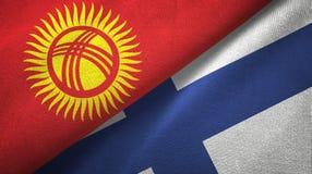 Ткань ткани флагов Кыргызстана и Финляндии 2, текстура ткани бесплатная иллюстрация