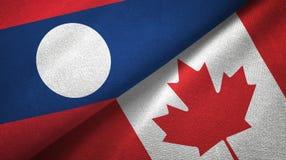 Ткань ткани флагов Лаоса и Канады 2, текстура ткани бесплатная иллюстрация