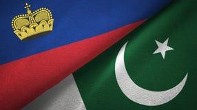 Ткань ткани флагов Лихтенштейна и Пакистана 2, текстура ткани бесплатная иллюстрация