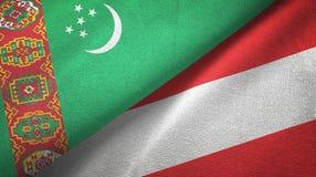 Ткань ткани флагов Туркменистан и Австрии 2, текстура ткани бесплатная иллюстрация