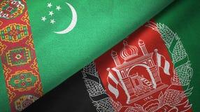 Ткань ткани флагов Туркменистан и Афганистана 2, текстура ткани бесплатная иллюстрация