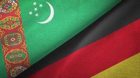Ткань ткани флагов Туркменистан и Германии 2, текстура ткани бесплатная иллюстрация