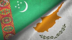 Ткань ткани флагов Туркменистан и Кипра 2, текстура ткани бесплатная иллюстрация