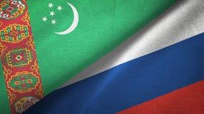 Ткань ткани флагов Туркменистан и России 2, текстура ткани бесплатная иллюстрация