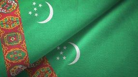 Ткань ткани флагов Туркменистан 2, текстура ткани бесплатная иллюстрация