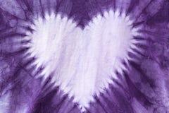 Ткань фиолетовая краска, сформированное сердце Стоковые Изображения RF