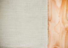 Ткань холста текстуры Стоковая Фотография RF