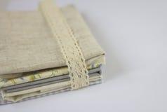 Ткань хлопка & белья Стоковая Фотография