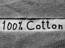Ткань хлопко-бумажной ткани с текстом, текстурой предпосылки Стоковое Фото
