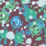 Ткань чертежа безшовной картины ручные и предпосылка grunge Стоковые Изображения