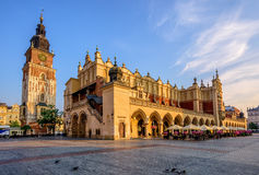 Ткань Hall в городке Кракова Olt, Польше Стоковое Фото