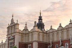 Ткань Hall (Sukiennice) в Кракове стоковое изображение rf