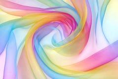 Ткань Organza в радуге Стоковые Фото